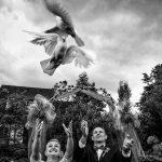 svatební fotografie, křenekmichal, vypouštění holubic, boho wedding, nádherna svatba, focení v lese, český ráj,