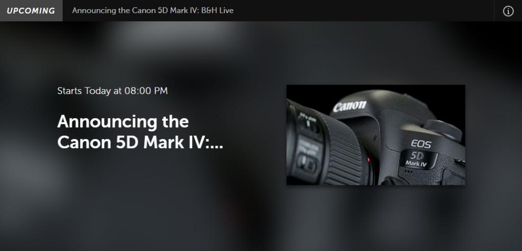 Canon 5D Mark IV představen release