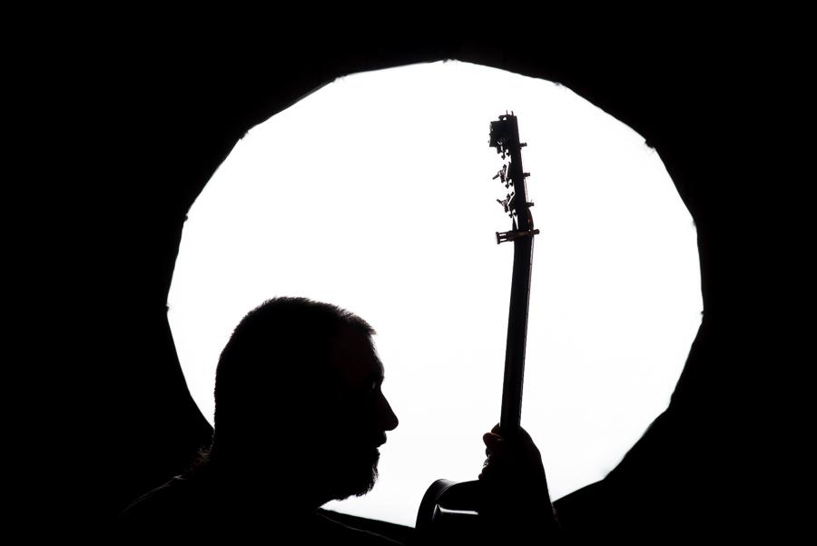 Luděk Bouška, bluegrass, kytarista, portrétní fotografie,křenek