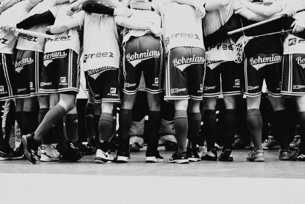 florbal, tatran, bohemians, extraliga, finále, 2019, BW , sport photographer, prague, czech republic, krenek, brankář, goalkeeper