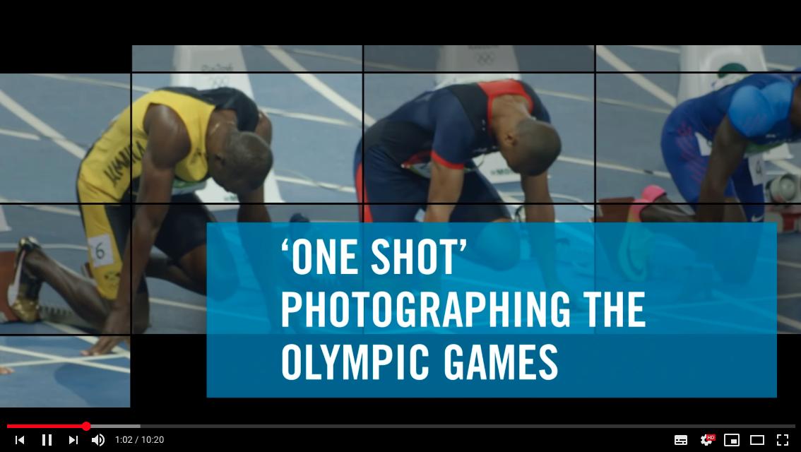 sportovní fotograf, přprav ana olympijské hry, one shot